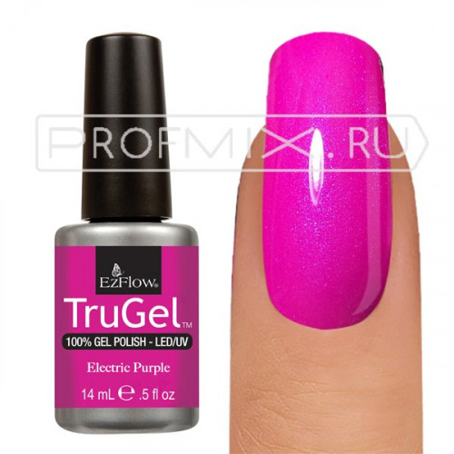 EzFlow TruGel, гель-лак №42281, Electric Purple, 14 мл.