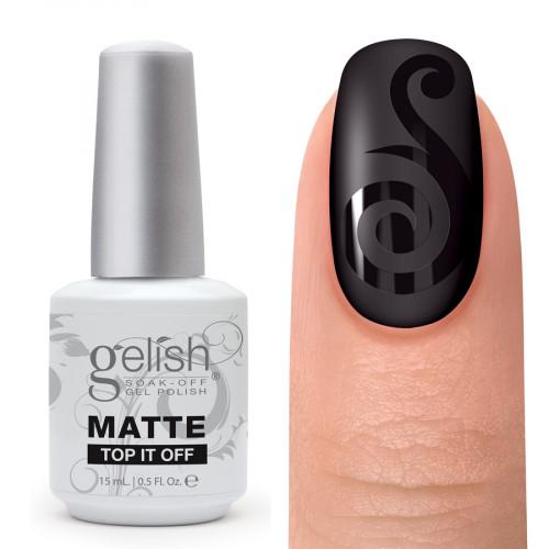 Gelish, Matte Top-It-Off , 15 мл. - матовое верхнее покрытие