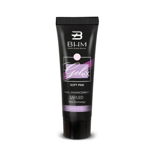 BHM Professional, полигель GeleX №5, нежно розовый, 15 мл