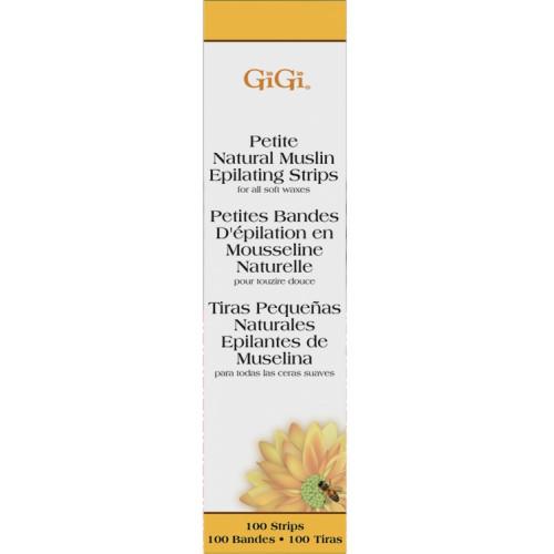 GiGi, Natural Muslin Strips Petite - натуральные миткалевые полоски для эпиляции, мини, 100 шт.