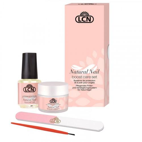 LCN, Улучшенный набор для немецкого маникюра Natural Nail Boost Care Set