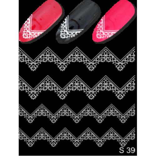 Дизайн ногтей На френч S 39 белый