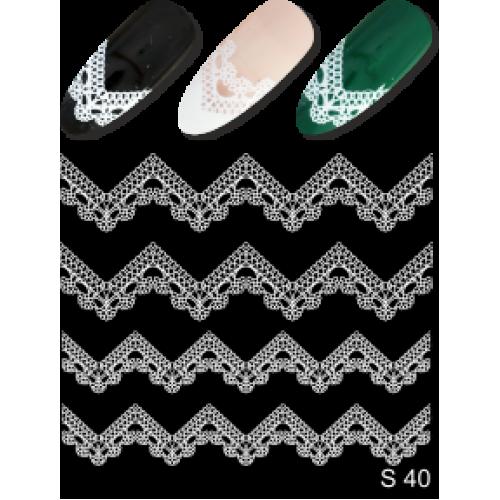 Дизайн ногтей На френч S 40 белый